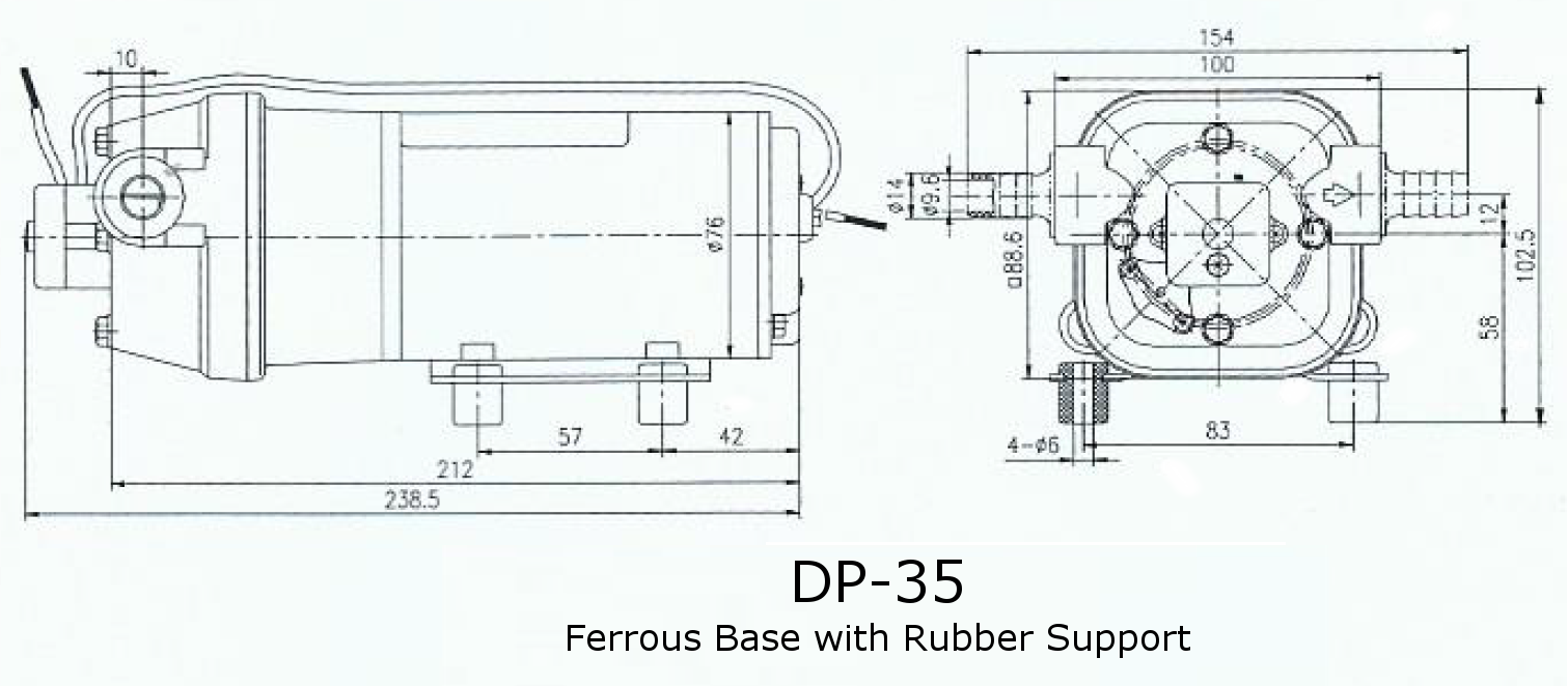 Dimensions for DP-35