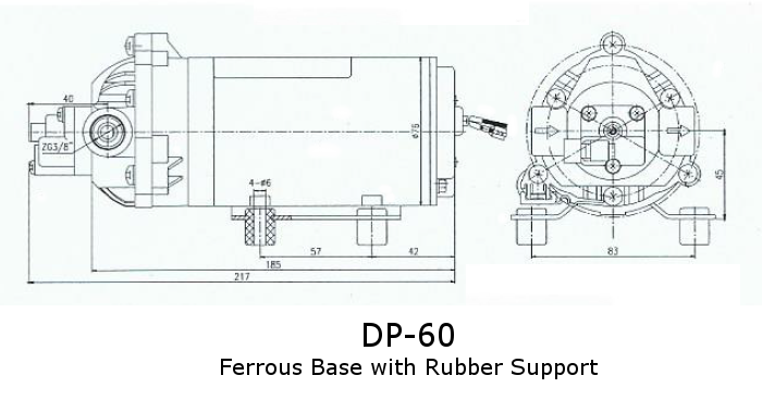 Dimensions for DP-60