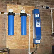 Rainwater treatment and sterilization system