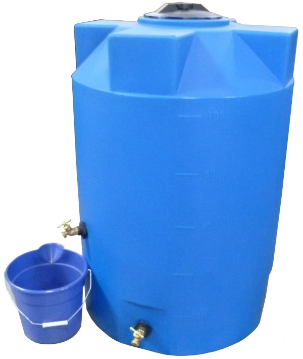 100 Gallon Bushman Formerly Poly Mart Emergency Water Storage Tank Rainwater Collection And Stormwater Management