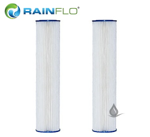 Double RainFlo 20 Micron and 5 Micron Pleated Filter Cartridges