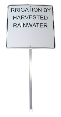 Metal Rain Harvesting Sign with Stand