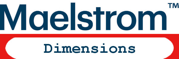 Maelstrom Logo with Dimensions