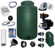 1100 Gallon Complete Above Ground Rainwater Collection System
