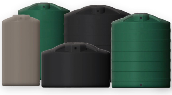 Snyder 1500 Gallon Vertical Water Storage Tank Rainwater Collection And Stormwater Management