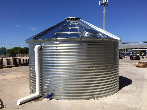 Basic Corrugated Steel Rainwater Tank