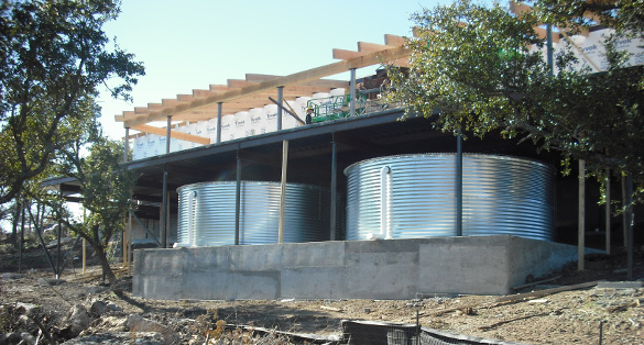 Dual Corrugated Steel Rainwater Tanks