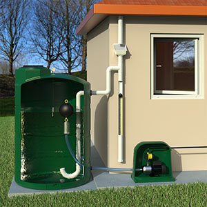 500 Gallon Complete Above Ground Rainwater Collection System
