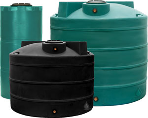 700 Gallon Dura-Cast Vertical Water Tank & 700 Gallon Dura-Cast Vertical Water Tank - Rainwater Collection and ...