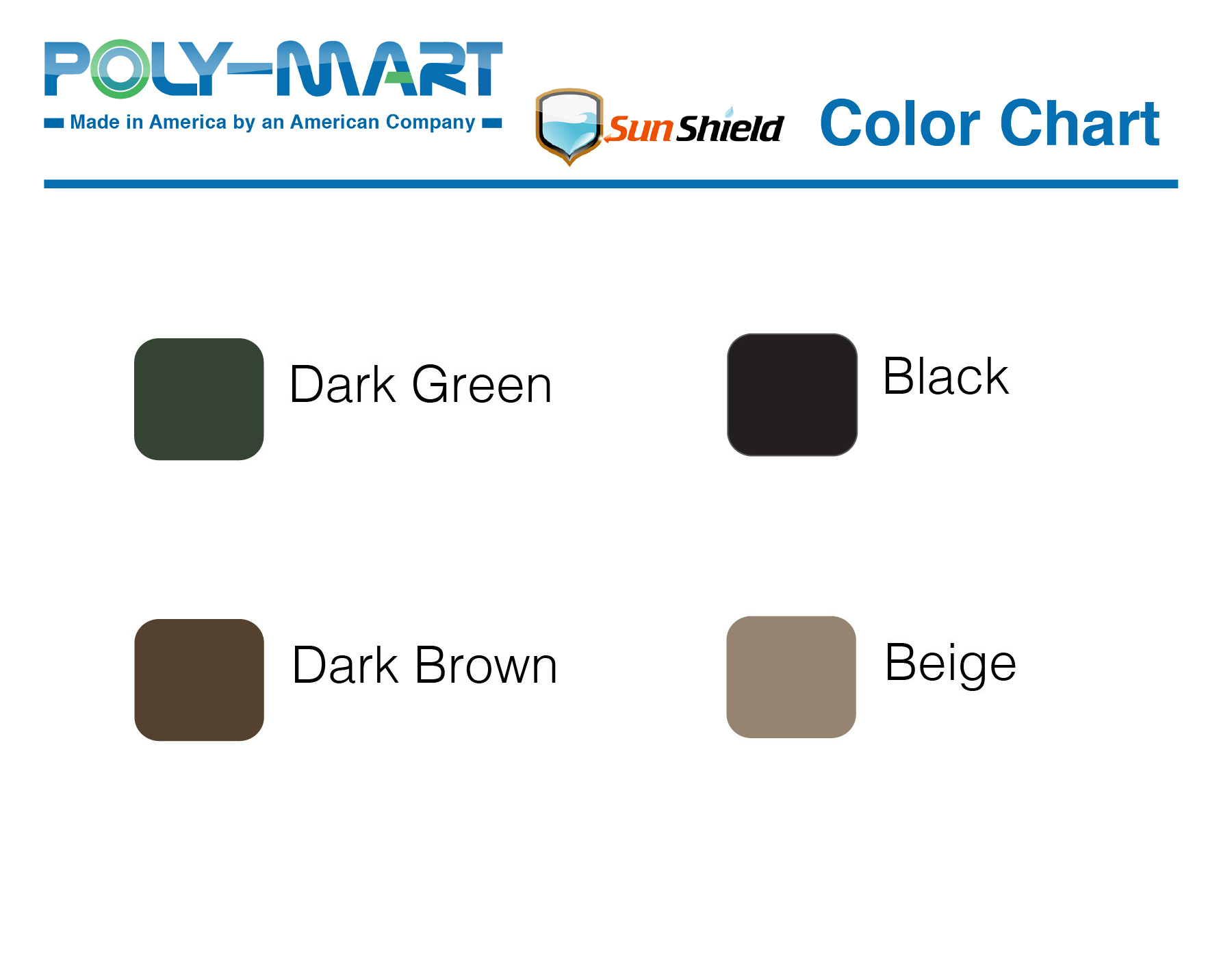 Poly-Mart SunShield 11 Color Bar
