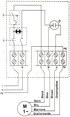 R128B starter schematic grundfos motor wiring diagram 4 wire thermostat wiring diagram Electric Water Pump Wiring Diagram at alyssarenee.co