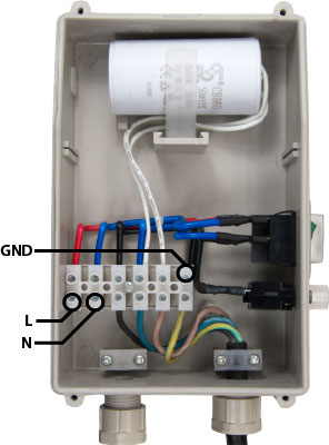RainFlo Control Box Wiring | RainFlo 2 HP Universal Pump