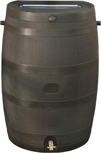 Flat Back Rain Barrel Brown 50