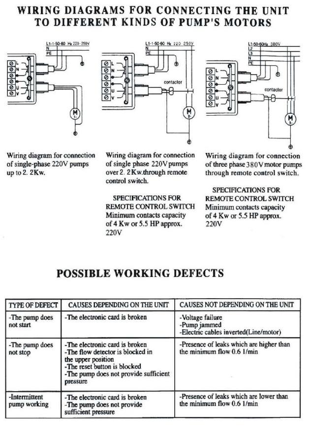 RainFlo 230V Pump Control | Automatic Pump Controller Wiring Diagram | Poly-Mart
