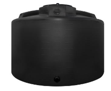 1200 Gallon Rotoplas Vertical Water Tank - Black