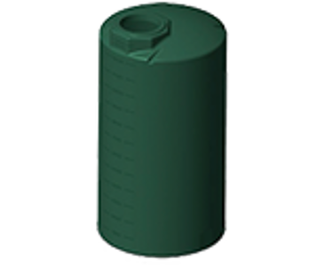 1500 Gallon Rotoplas Vertical Water Tank - Green