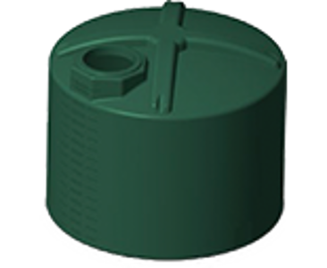 1600 Gallon Rotoplas Vertical Water Tank - Green
