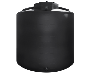 2000 Gallon Rotoplas Vertical 1.5 SG Agriculture Tank - Black