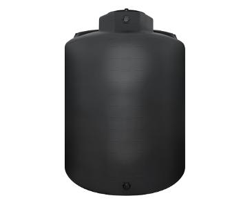 3000 Gallon Rotoplas WIDE Vertical 1.5 SG Agriculture Tank - Black