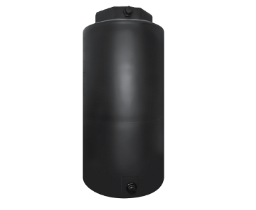 400 Gallon Rotoplas Vertical Water Tank - Black