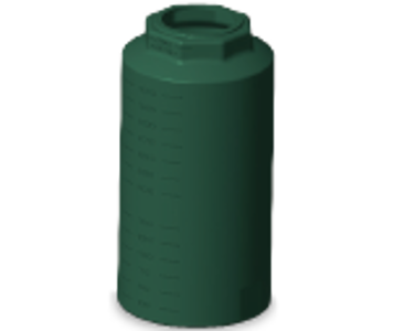 400 Gallon Rotoplas Vertical Water Tank - Green