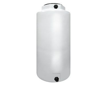 300 Gallon Rotoplas Vertical 1.9 SG Industrial Tank - White