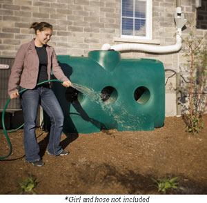 Rainwater Collecting System, 214 Gallon