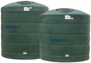 3000 Gallon Vertical Water Tank WO3000-VT