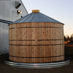 Cedar Wrapped Corrugated Steel Water Tank