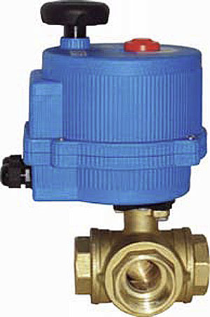 motorized 3 way backup valve rainwater collection and